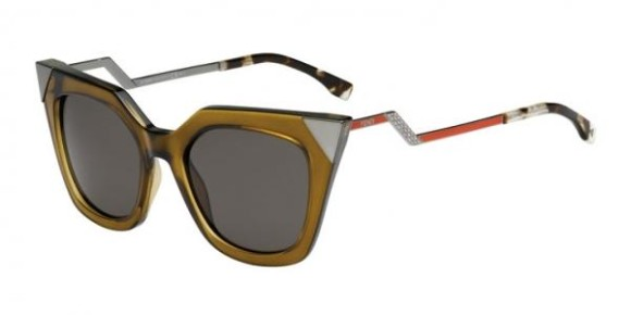 FENDI FF 0060/S IRIDIA COLLECTION - MSW (NR) - OLV RTRED