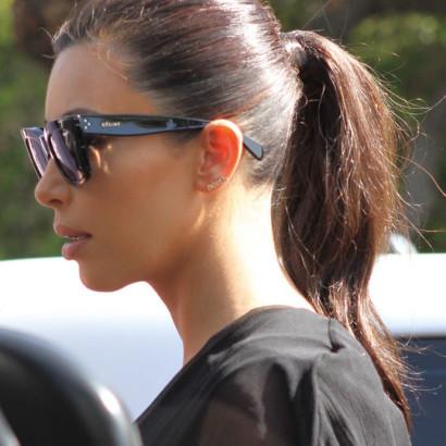 Kim kardashian luciendo gafas Celine