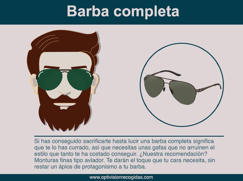 Gafas de sol - Estilo Barba completa