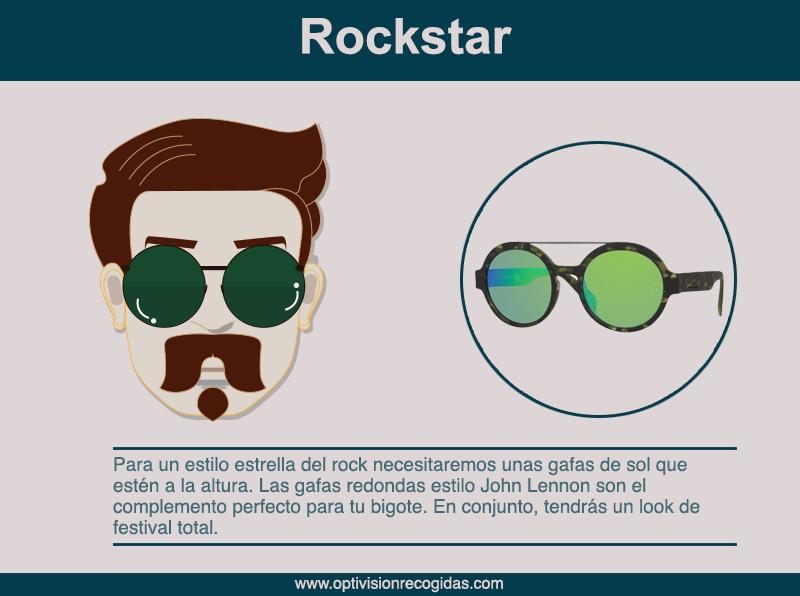 Gafas de Sol - Barba estilo Rockstar